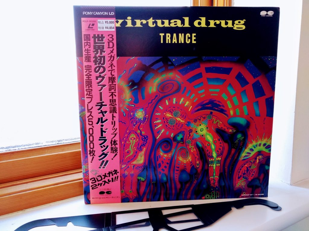 Virtual Drug Laserdisc with 3D glasses