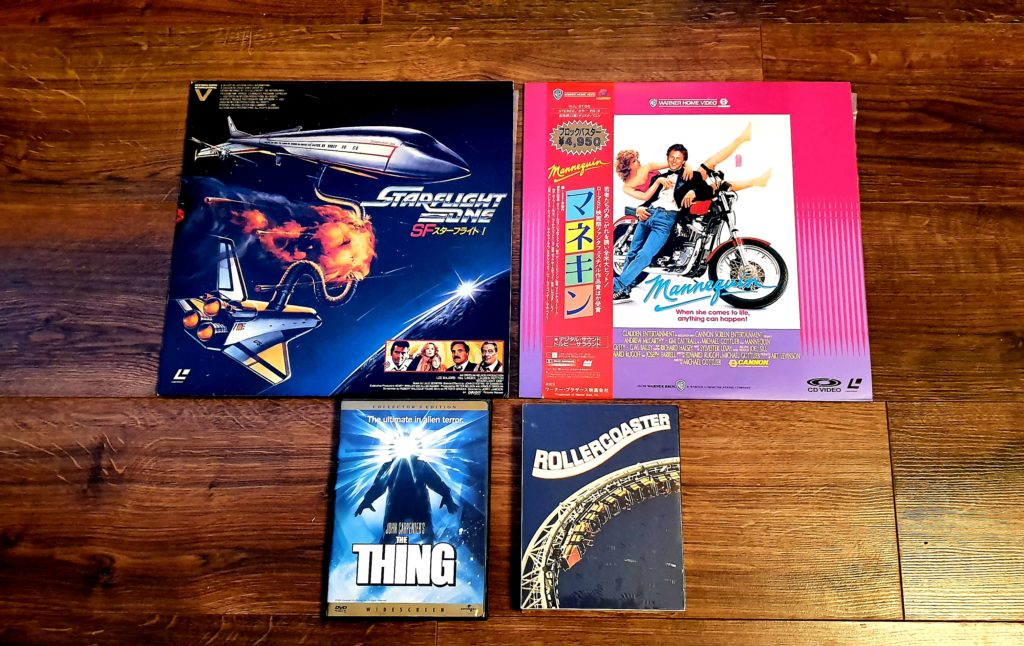 Laserdiscs and DVD's